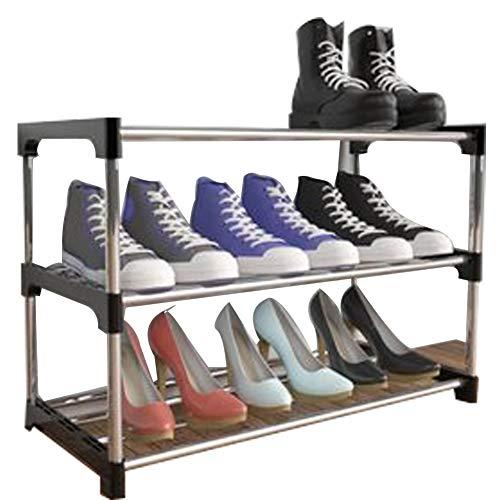 XIAOLI Säng sula skohylla under-säng skoförvaring dubbla lager utrymmesbesparande sovsal hushåll sovrum med små små skoskåp (storlek: 2 våningar)