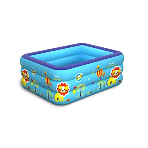 DFSDG Piscina inflable gruesa de verano, para familia, niños, adultos, piscina de agua al aire libre, interior (color: estilo A, tamaño: 150 x 110 x 55 cm)