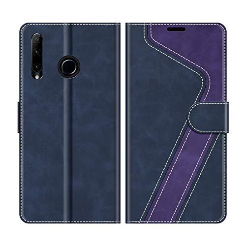 MOBESV Custodia Huawei P Smart Plus 2019, Cover a Libro Honor 20 Lite, Custodia in Pelle Huawei P Smart Plus 2019 Magnetica Cover per Huawei P Smart Plus 2019 / Honor 20 Lite, Blu Scuro/Viola