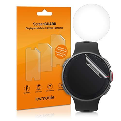 kwmobile 2X Protector de Pantalla Compatible con Polar Vantage M - Salvapantallas Transparente para Fitness Tracker smartwatch