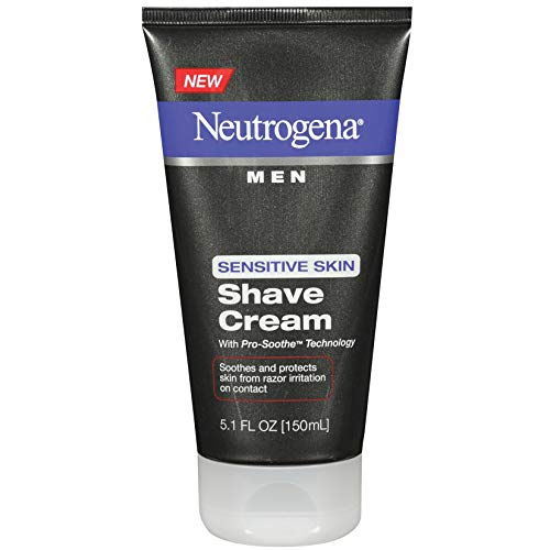 Neutrogena Men's Shaving Cream For Sensitive Skin, Shave Cream Pro-Soothe Technology to Protect Against Razor Bumps & Ingrown Hairs, Dye-Free 5.1 fl. oz (Pack of 2)