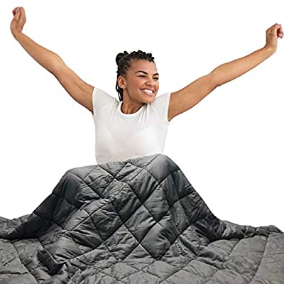 Hypnoser Adult Weighted Blanket Queen Size (20 lbs, 60''x80'' ) | Cooling Heavy Blanket | 100% Breathable Material with Pure Glass Beads from Hypnoser