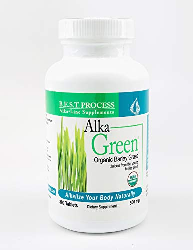 Alka-Green Tablets (300 CT) Organic Barley Grass & Naturally Chelated Colloidal Minerals & Enzymes for Improved Digestion, Energy & Mood | Morter HealthSystem B.E.S.T. Process Alkaline