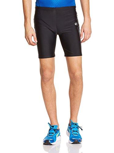 Ultrasport Pantalones cortos de correr, Negro/Paloma Gris, 2XL