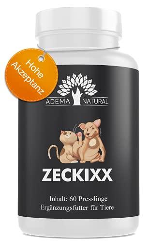 Adema Natural® ZECKIXX - Zeckenschutz für Tiere, Mittel gegen Zecken, 60 Presslinge