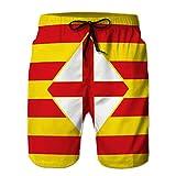 Shorts de baño de Playa de Verano de Secado rápido para Hombres...