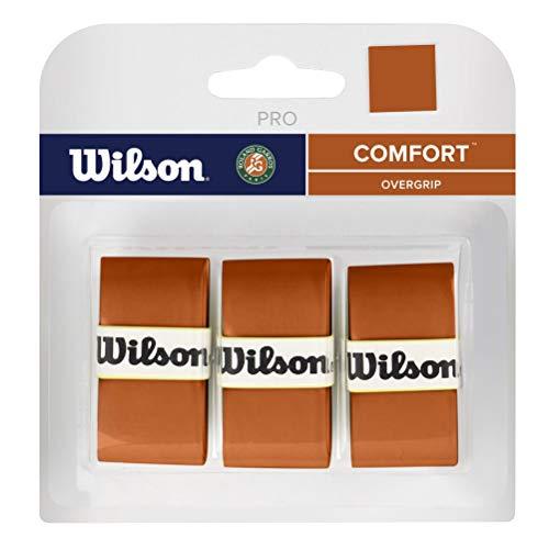Wilson Pro Overgrip Comfort – Paquete de 3 arcilla Roland Garros