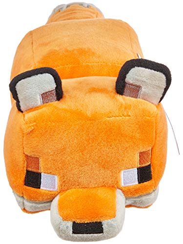 Minecraft Plush 8-in Fox Character Doll, Soft, Collectible Gift for Fans Age 3 and Older
