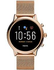 ساعة جوليانا اتش ار من فوسيل ذكية رقمية من الستانلس ستيل، بمينا متعدد الالوان للنساء - FTW6062