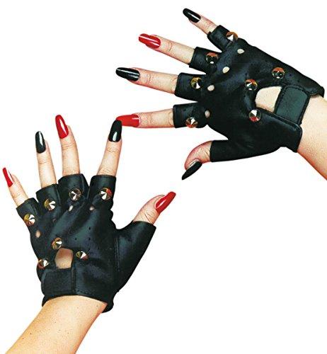 Punk Handschuhe schwarz