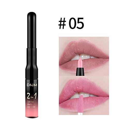 DNM Doppelkopf Lip Liner und Lippenglasur matt, Lippenzwischenlage Lip Liner Stick Bleistift...