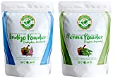 Plants & Herbs Ayurveda 100% Pure Herbal Indigo and Henna (Mehndi) Powder Dye for Shades of Brown and Black Hair and Beards — 8oz / 227g each — natural, Chemical-free, PPD-free, Ammonia-free