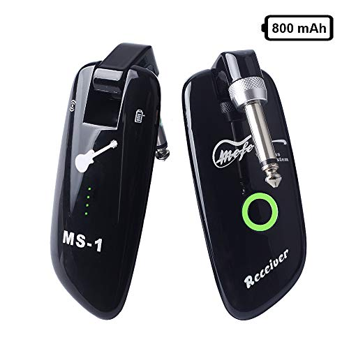 Mefe Rechargeable Wireless Guitar System Guitar Bass Wireless Digital Transmitter Receiver Upgraded Battery 100 Channels