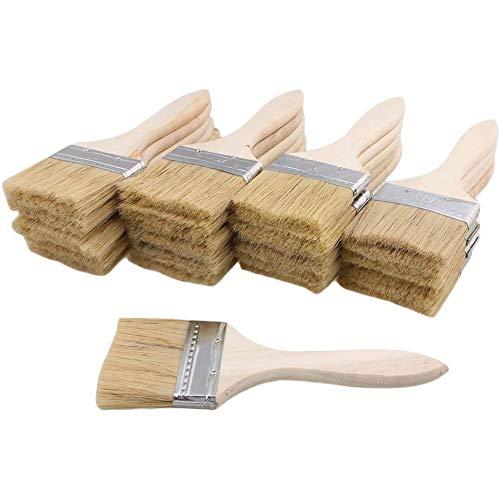 ACAMPTAR 24 Teilige Pinsel 70 Mm Chip Lack- und Lack Pinsel Perfekt für Wand- und Holz Anstriche
