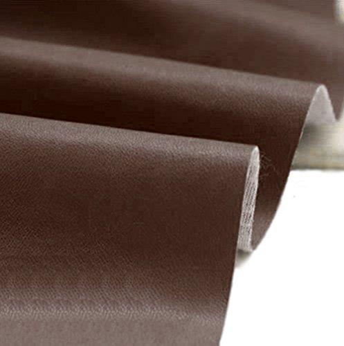 A-Express manualidades, de Polipiel para tapizar, Venta de polipiel por metros, Tejido de piel sintética, piel sintética, Marron (longitud 100cm x ancho 140cm