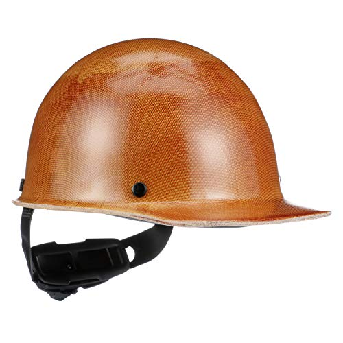 MSA Tan Skullgard Phenolic Cap Style Hard Hat With Ratchet4 Point Ratchet Suspension