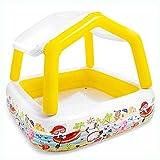 DXIUMZHP Piscinas Desmontables Piscina Hinchable Rectangular Piscina Inflable, Piscina Infantil De Verano Al Aire Libre, Piscina De Bolas Oceánicas, con Capota (Color : Yellow, Size : 5.1 ft)