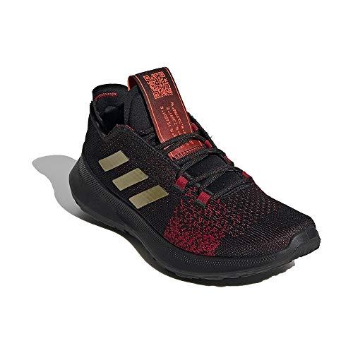 Adidas SenseBOUNCE + Ace J, Zapatillas Running Unisex Infantil, Rojo (Core Black/Gold Met./Scarlet), 38 EU