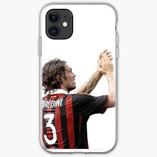 Compatibile con iPhone 12/11 Pro Max 12 mini SE X/XS Max XR 8 7 6 6s Plus Custodie Italia Kite Italy Milan Ac Paolo Manchester United Maldini Custodie per Telefoni Cover
