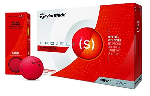 TaylorMade Balles de Golf Projd, Mixte, M7166201, Rot, Matt,...