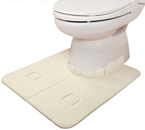 【日本製 消臭 洗える】サンコー ズレない トイレマット おくなが ふんわり 60×70cm アイボリー おくだけ吸着 KF-04