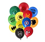 Superheld Luftballons 24 Pack 12 Zoll Latex Luftballons für Kinder Birthday Party Supplies, ideal für Mädchen und Jungen Comic Thema Party und Dekorationen, Avengers Party Dekorationen