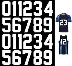 22Pcs Heat Transfer Vinyl Iron on Numbers White, 8Inch Heat Transfer Paper Iron on Numbers 0 to 9 DIY Crafts Decorations for Sports T-Shirt Jerseys Football Baseball,Team t-Shirt