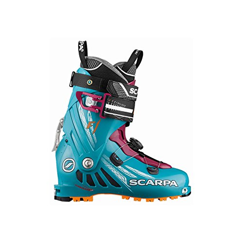 Scarpa Damen F1 Skischuhe Arctic Blue/Purple 22