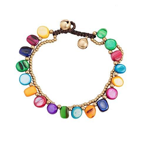 CHCO Armband Ethnische Handarbeit Zwei Schicht Unregelmäßigen Keramik Stein Charme Armband Weibliche Böhmen Perlen Sting Kette Armbänder Für Frauen