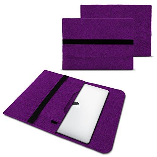 NAUC Laptop Tasche Sleeve Hülle Schutztasche Filz Cover für Tablets & Notebooks Farbauswahl kompatibel für Samsung Apple Asus Medion Lenovo, Farben:Lila, Größe:12.5-13.3 Zoll