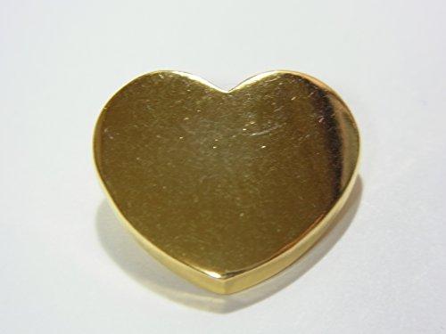 ハート形メタリックボタン ゴールド色 12mmx10個セット