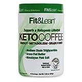 Fit & Lean Keto Coffee Premium Gourmet Ketogenic Medium Roast Instant Coffee Blend, Natural Flavors, 7.93 oz