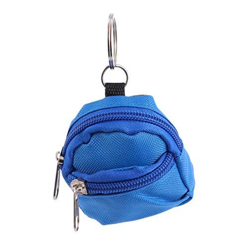 KESYOO 2 Stück Mini Rucksack Geformt Schlüsselanhänger Geldbörse Tasche Dekorationen Weihnachten Dekorative Süßigkeiten Taschen Geschenke (Blau)