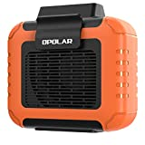 OPOLAR Mini Personal Waist Clip Fan/Necklace Fan 2 in 1, 6200RPM Strong Airflow, 6000mAh Rechargeable Battery Operated, USB Belt Shirt Cooling Body Fan Portable for Outdoor Camping Working