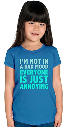 I'm not In A Bad Mood Slogan Girls T-shirt 8/9 yrs