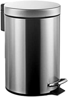 C-J-Xin Pedal Type Trash Can, Creative Double Layer Deodorant Trash Can Kitchen Covered Deodorant Trash Can Stainless Stee...