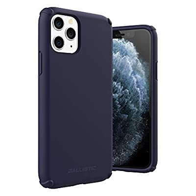 Ballistic iPhone 11 Pro Liquid Silicone Case, Gel Rubber Full Body Protection Shockproof Case for iPhone 11 Pro 5.8'- Navy Blue