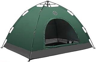 Tent خيمة مزدوجة 3-4 الناس التلقائي فتح خيمة فتح خيمة المعطف وخيمة يندبروف للتسلق الخارجي والسفر (Color : Green)