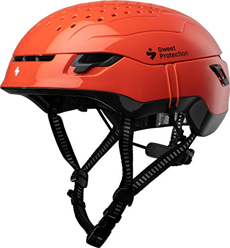 Sweet Protection Ascender Casco, Adulto, Gloss Flame Naranja, Medium