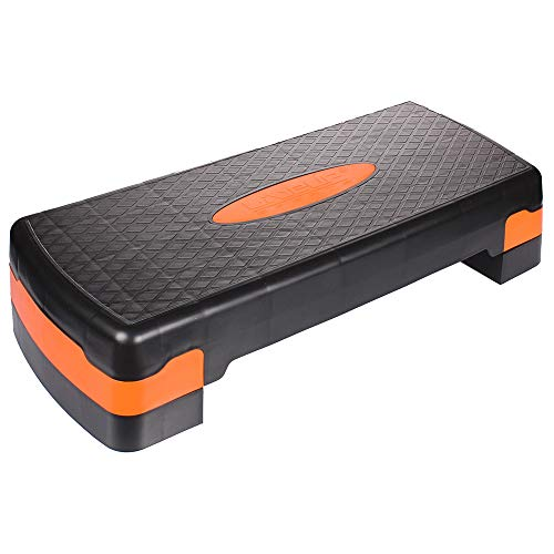 LiveUP Sports - Stepper Aerobico Gradino Regolabile AEROBIC STEP Orange Allenamento Aerobico Resistenza Fit a Casa Palestra