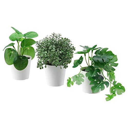 Ikea Fejka Künstliche Topfpflanze für drinnen und draußen, Arbeit, Büro, Dekoration, 6 cm, 3 Stück