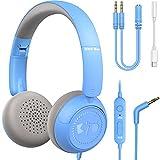 Kinder Kopfhörer New Bee Kabel Kinderkopfhörer mit Mikrofon zum Lernen für Jungen und Mädchen...
