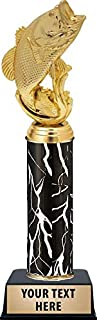 Crown Awards Large Mouth Bass Fish Trophies, Personalized Black Lightning Large Mouth Bass Fish Trophy, Custom Engraving Included Prime