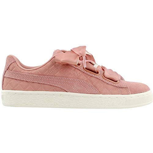 PUMA Womens Suede Heart Quilt Sneakers Shoes Casual - Pink - Size 6.5 B