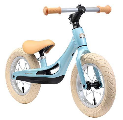 BIKESTAR Magnesium (superleicht) Kinderlaufrad Lauflernrad Kinderrad für Jungen und Mädchen ab 3 - 4 Jahre | 12 Zoll Kinder Laufrad Cruiser Ultraleicht | Blau | Risikofrei Testen