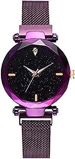 Pass Pass Beautiful Analogue Magnet Buckle Watch for Women & Girls (Purple)