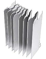 OKBY Parabrisas Camping-16 Piezas portátil aleación de Aluminio Cassette Cabeza Horno Parabrisas Picnic Parabrisas