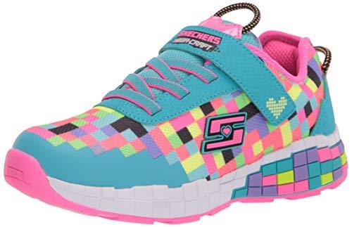 Price comparison product image Skechers Kids Girls Light Weight,  Pixel,  Skechers Gaming Sport Shoe Sneaker,  Turquoise / Multi 13 medium US