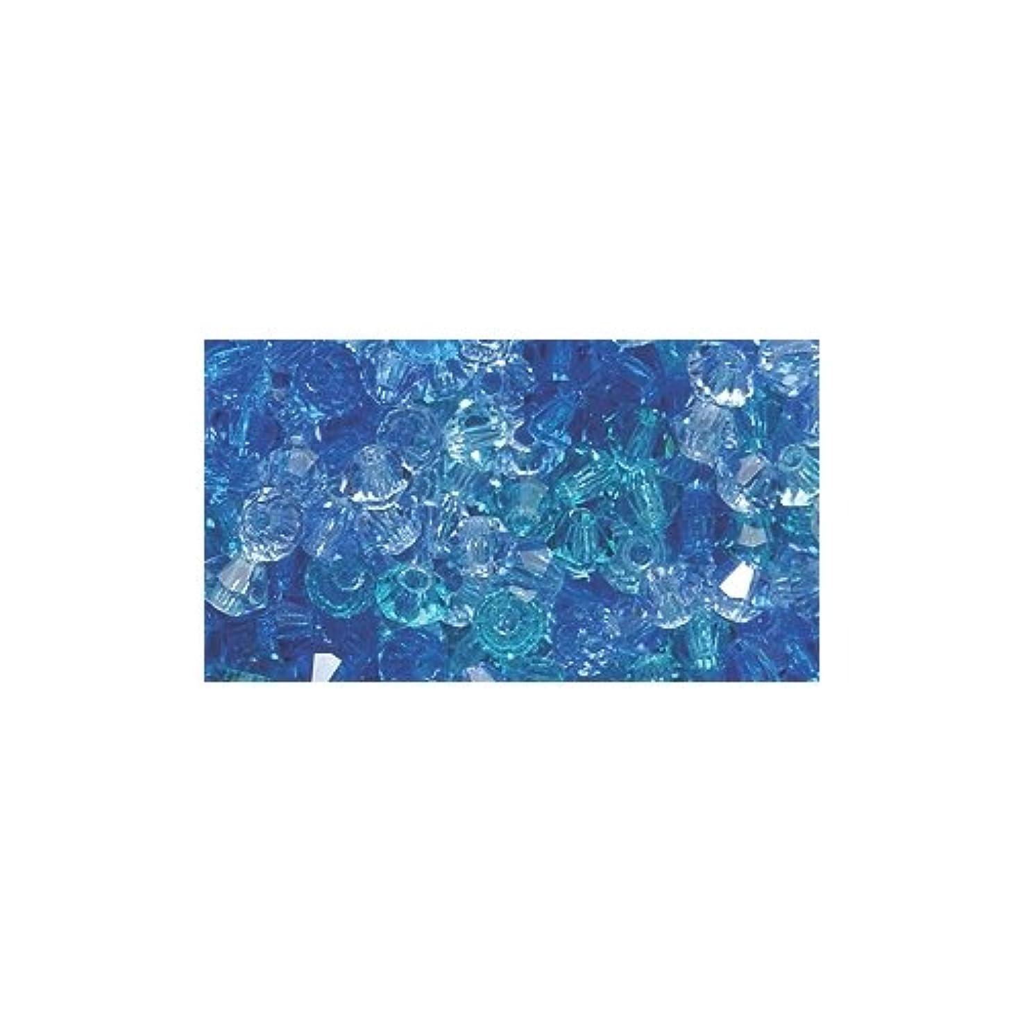 Preciosa 3-Mm Crystal Diamond/Bicone Bead, Blue Lagoon Mix, 144-Piece