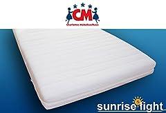 Materac dziecięcy Sunrise Light 90×200 cm z materacem piankowym pokrywa zdejmowany materac dziecięcy z pianki elastycznej, testowany pod certyfikatem Eco-Tex.